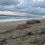 Strand von Sondervig bei Regenwetter