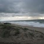 Strand von Sondervig bei Regenwetter andere Blickrichtung